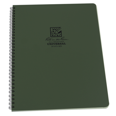"Notebook 973-MX Universal Green, 8 1/2"" x 11"" -Rite In The Rain"