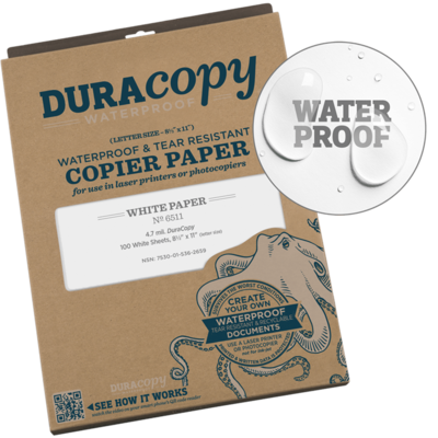 "Paper 651 Duracopy Laser White, 100 Pack, 8.5"" x 11"" - Rite In The Rain"