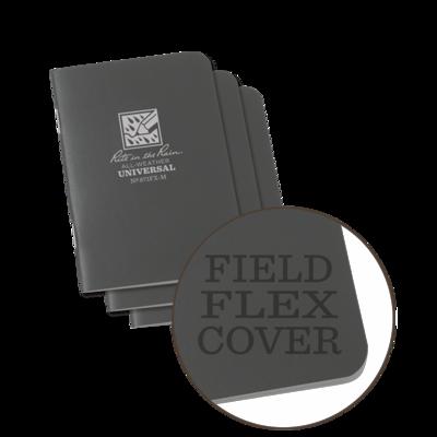 "Notebook 371FX-M Universal Grey, 3 Pack, 3"" x 4 5/8"" - Rite In Thr Rain"