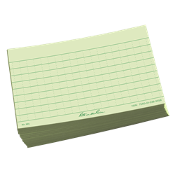 Index Cards 991 Green, 3