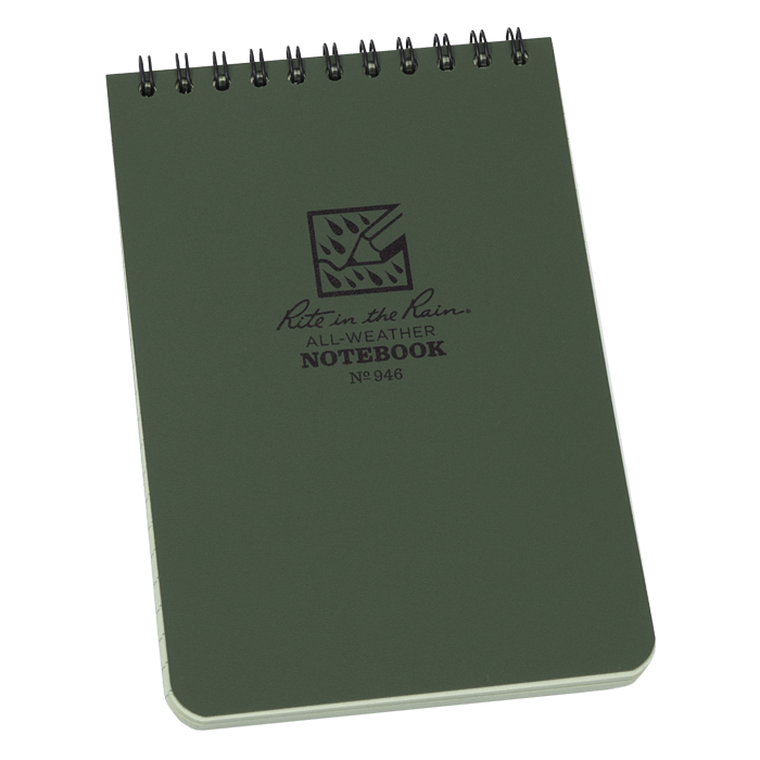 "Notebook 946 Top Coil Universal Green, 4"" x 6"" - Rite In The Rain"
