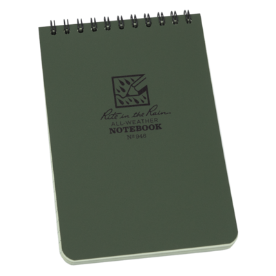 """Notebook 946 Top Coil Universal Green, 4"""" x 6"""" - Rite In The Rain"""