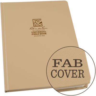 """Notebook 970TF-MX Hardcover Universal Brown, 8 1/4"""" x 11"""",  Perforated - Rite In The Rain"""