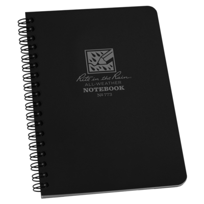 "Notebook 773 Side Coil Universal Black, 4 5/8"" X 7"" - Rite In The Rain"