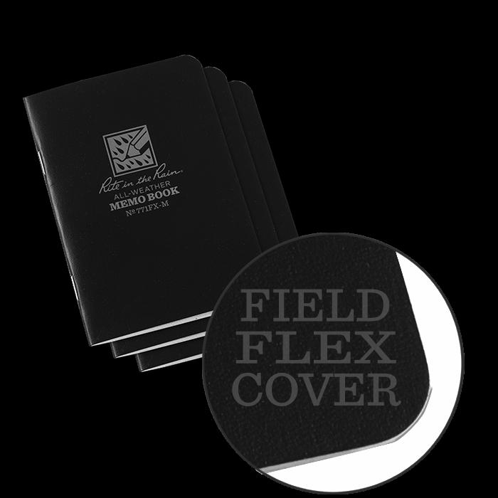 """Notebook 771FX-M Universal Black, 3 Pack, 4 3/8"""" x 4 5/8"""" - Rite In The Rain"""