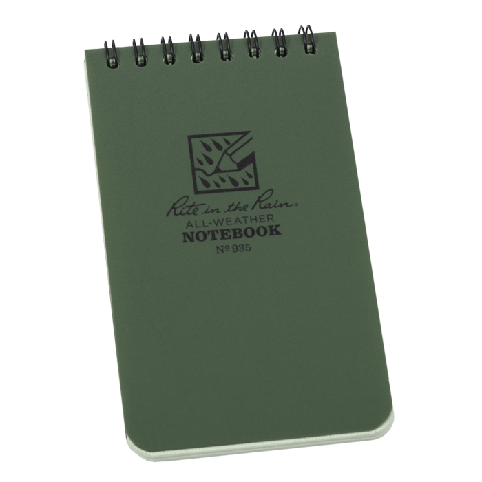"""Notebook 935 Top Coil Universal Green, 3"""" x 5"""" - Rite In The Rain"""