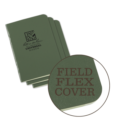 "Notebook 971FX-M Universal Green, 3 Pack, 3"" x 4 5/9"" - Rite In The Rain"