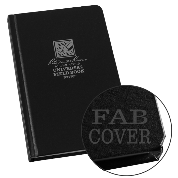 """Notebook 770F Universal Black, Perforated, 4 3/8"""" x 7 1/4"""" - Rite In The Rain"""