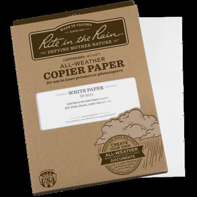 "Paper 8511 Letter Copy/Laser White, 200 Pack, 8 1/2"" x 11"" - Rite In The Rain"
