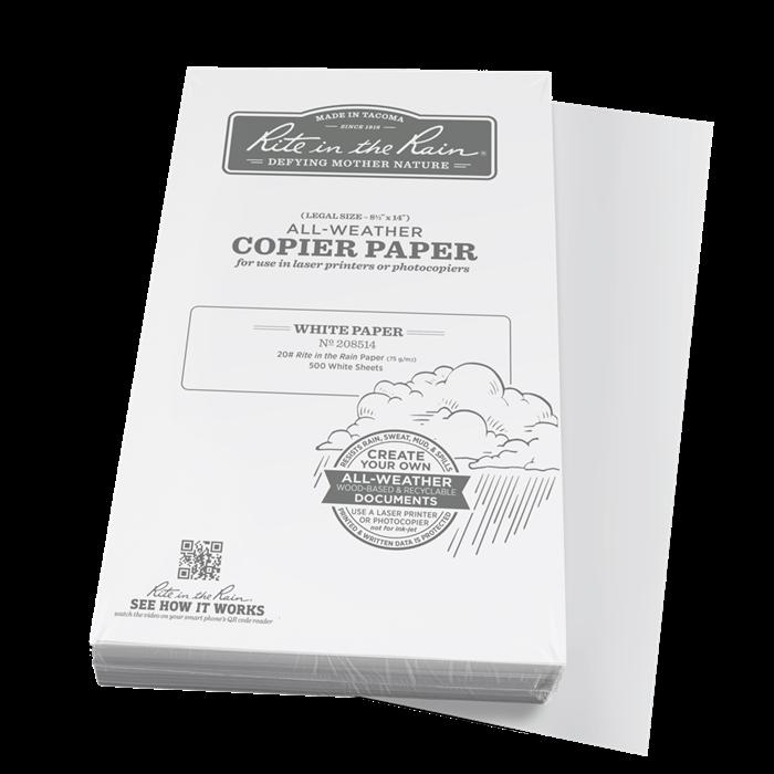 """Paper 208514 Legal White, 500 Pack, 8 1/2"""" x 14"""" - Rite In The Rain"""
