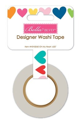 Washi Tape - Oh My Heart 15mm 30 Feet