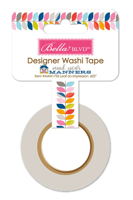 Washi Tape - Mind Your Manners 15mm 30 Feet
