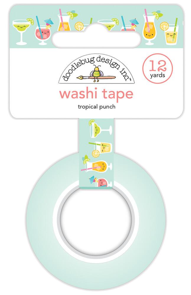 Washi Tape - Tropical Punch 15mm 30 Feet
