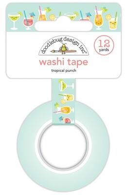 Washi Tape - Tropical Punch 15mm 30 Feet