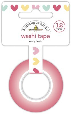 Washi Tape - Candy Hearts 15mm 30 Feet