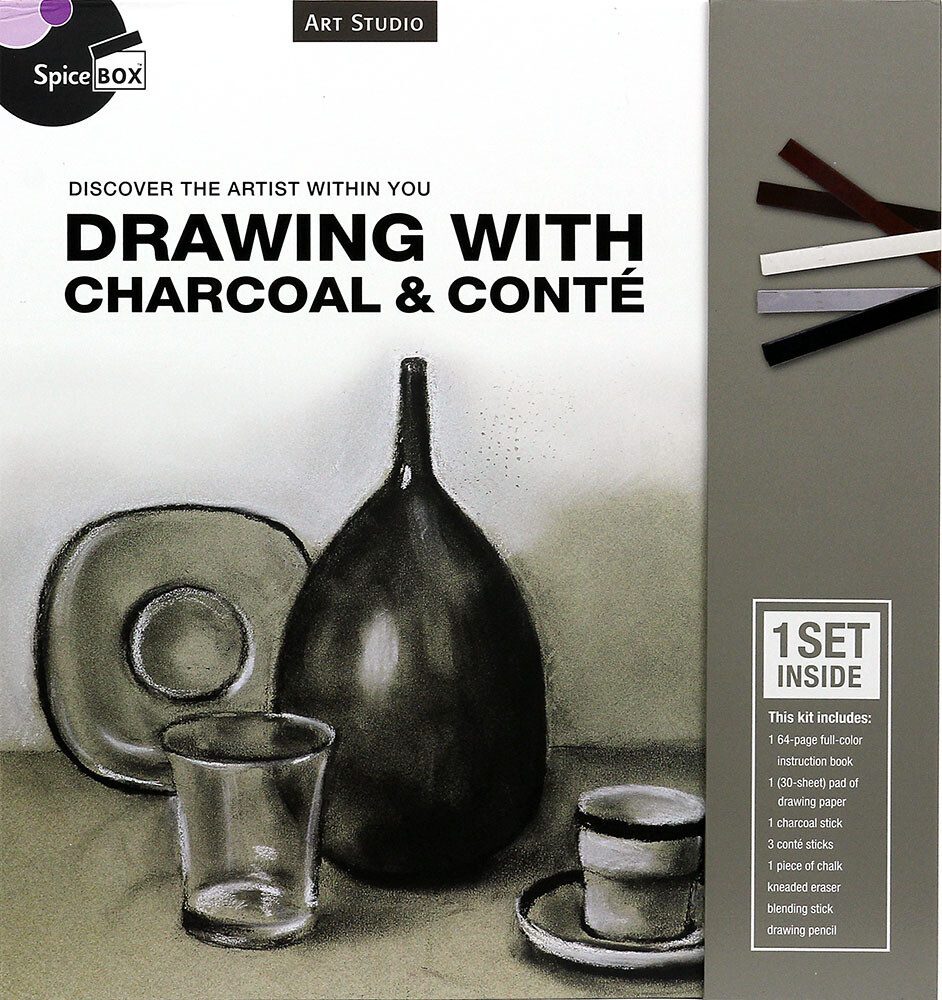 Book Kit: Art Studio Drawing W Charcoal & Conte