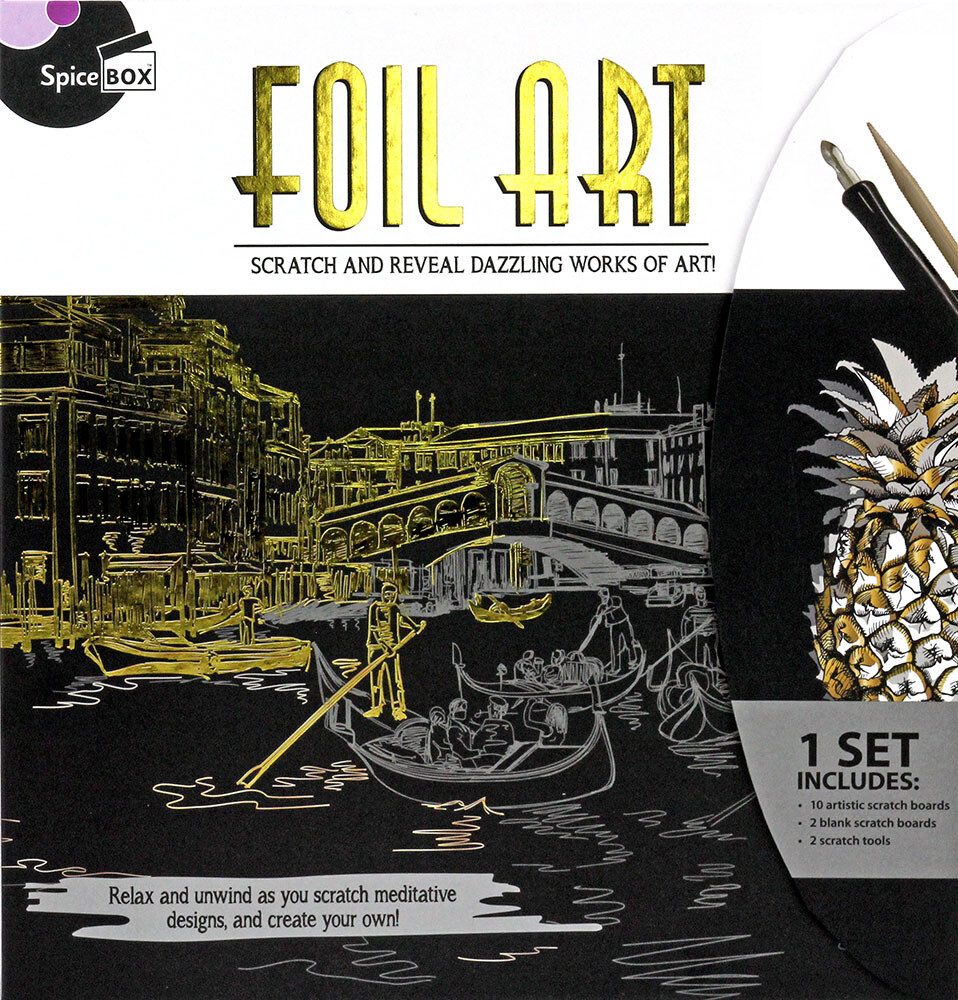 Book Kit: Skecth Plus Deluxe Foil Art