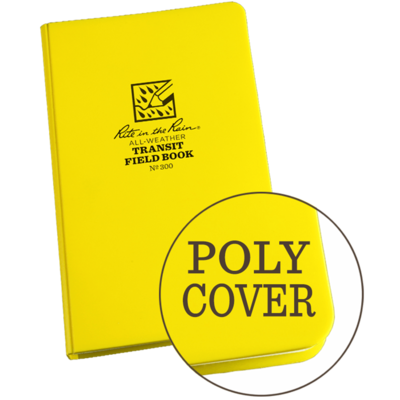 """Notebook 300 Transit Yellow, Poly Cover,  4 3/4"""" x 7 1/2"""" - Rite In The Rain"""
