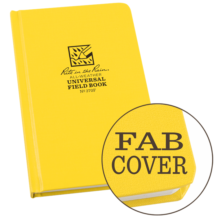 "Notebook 370F Universal Hard Cover Yellow, 4.75"" x 7.5"" - Rite In The Rain"