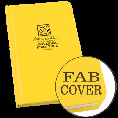 "Notebook 370F Universal Hard Cover Yellow, 4.75"" x 7.5"" - Rite In The Rain"