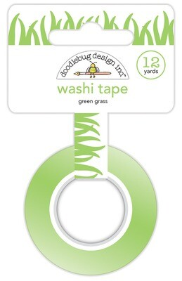 Washi Tape - Green Grass 15mm 30 Feet