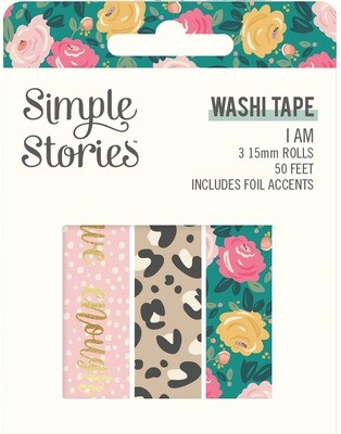 Washi Tape - I am 3 rolls 15mm 50 Feet