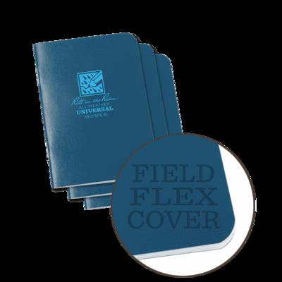 "Notebook 271FX-M Universal Stapled Blue, 3 Pack, 3"" x 4 5/8"" - Rite In The Rain"