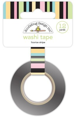 Washi Tape - Licorice Stripe 15mm 30 Feet