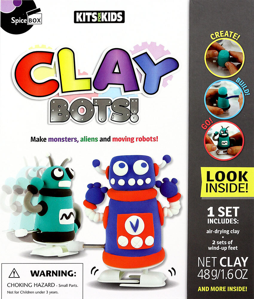 Book Kit: Kits For Kids Clay Bots