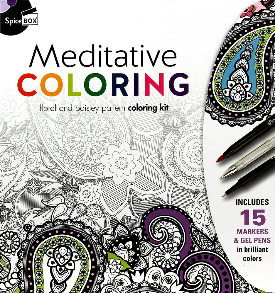 Book Kit: Mindful Color & Gift Cards Meditative Colouring
