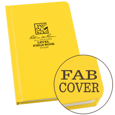 "Notebook 310F Level Fabrikoid Yellow Level 4.75"" X 7.5"" - Rite In The Rain"