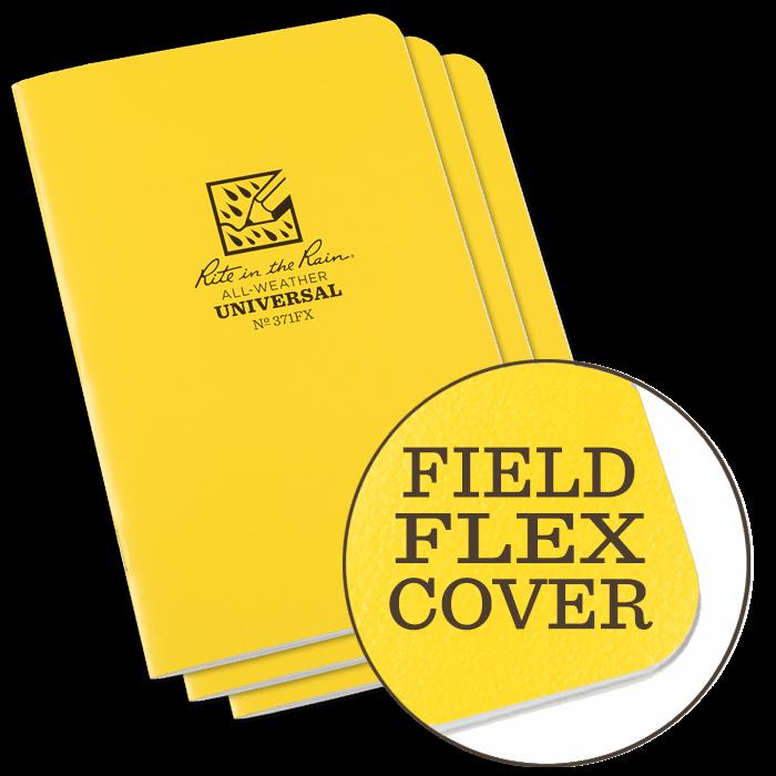 "Notebook 361FX Metric Field Yellow, 3 Pack 4 5/8"" x 7"" - Rite in the Rain"