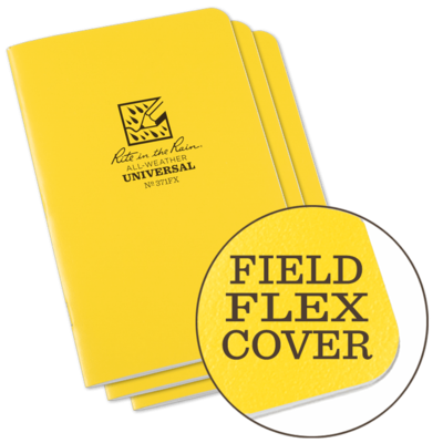 Notebook 361FX Metric Field Yellow, 3 Pack 4 5/8