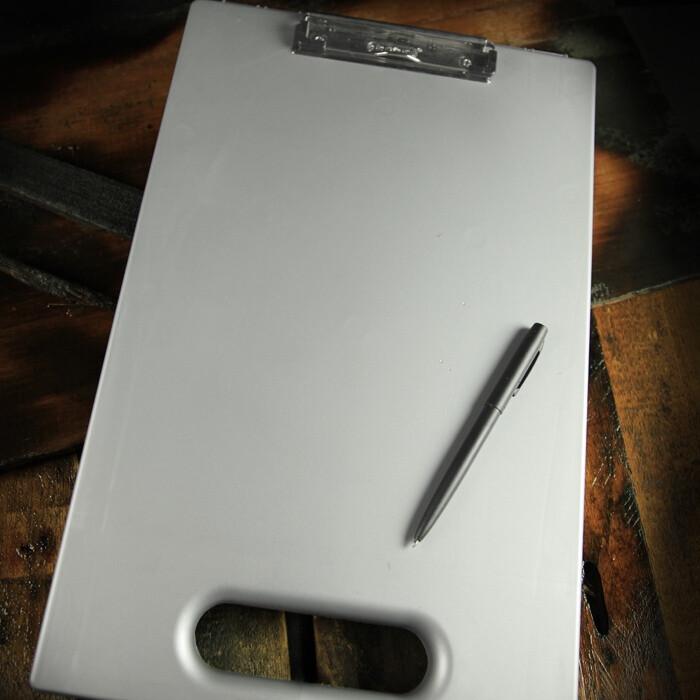 """Field Desk 295  Grey, Polydura, 8 1/2"""" x 11"""" - Rite In The Rain"""