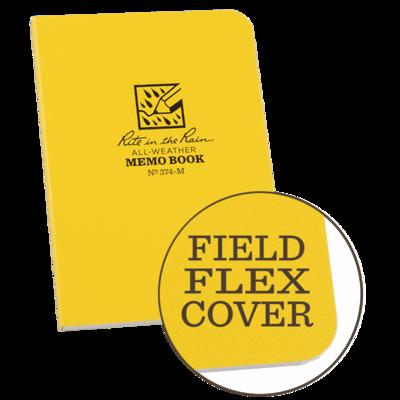 "Notebook 374-M Sidebound Universal Yellow, 3 1/8"" x 5"", Memo Book - Rite In The Rain"