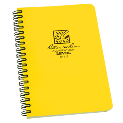 Notebook 313 Side Coil Level Yellow, 4.5