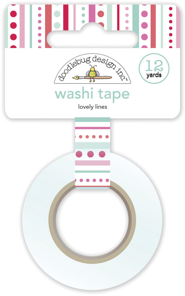 Washi Tape - Lovely Lines 15mm 30 Feet