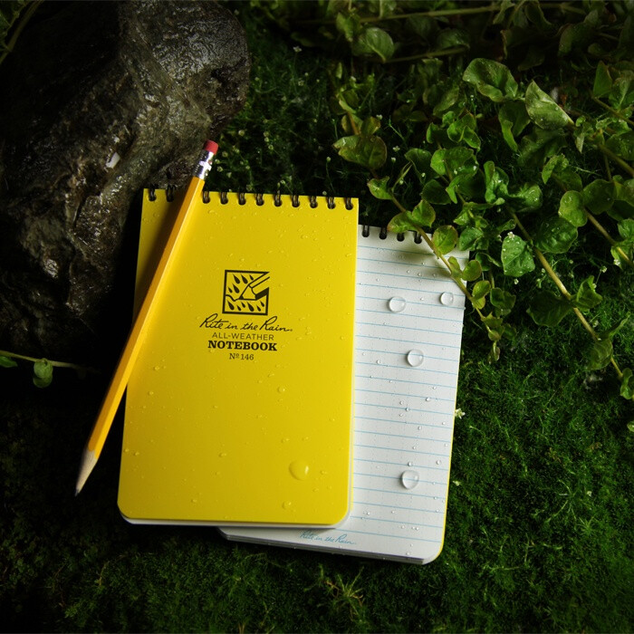 """Notebook 146 Top Coil Universal Yellow, 4"""" x 6"""" - Rite In The Rain"""
