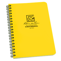 """Notebook 373 Side Coil Universal Yellow, 4 5/8"""" x 7"""" - Rite In The Rain"""