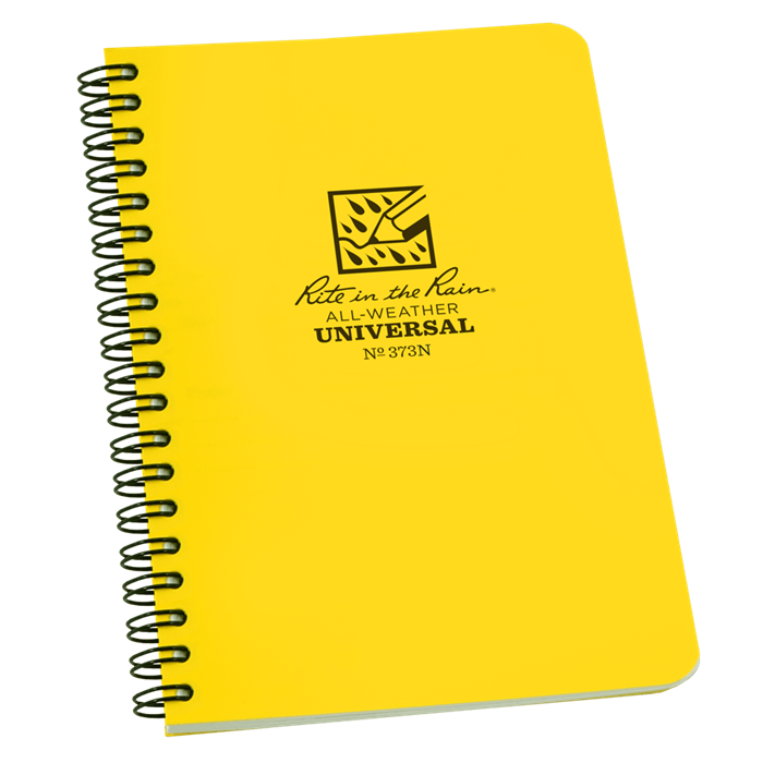 "Notebook 373N Side Coil Universal Yellow, 4 5/8"" x 7"" - Rite In The Rain"
