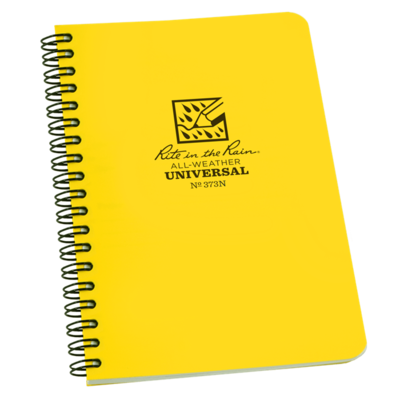 """Notebook 373N Side Coil Universal Yellow, 4 5/8"""" x 7"""" - Rite In The Rain"""