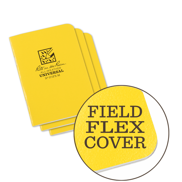 "Notebook 371FX-M Universal Yellow, 3 Pack, 3 1/4"" x 4 5/8"""