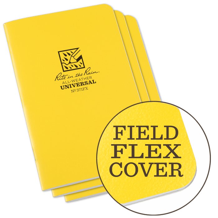 "Notebook 371FX Universal Yellow, 3 Pack, 4 5/8"" x 7"" Rite In The Rain"