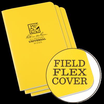 """Notebook 371FX Universal Yellow, 3 Pack, 4 5/8"""" x 7"""" Rite In The Rain"""