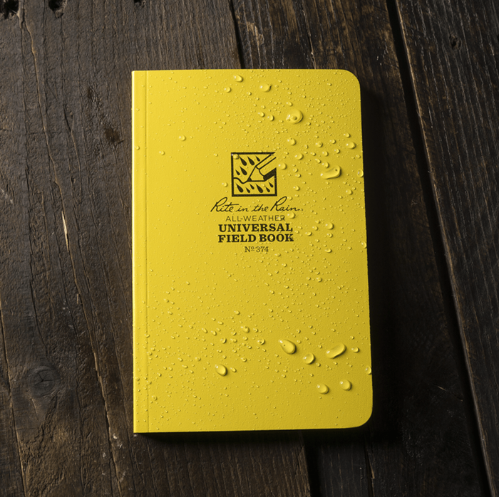 """Notebook 374 Field Flex Universal Yellow, 4 1/4"""" x 7 1/4"""", Perforated - Rite In The Rain"""