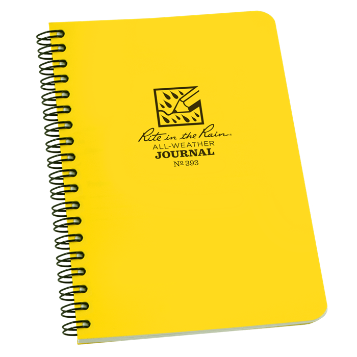 "Notebook 393 Side Coil Journal Yellow, 4 5/8"" x 7"" - Rite In The Rain"