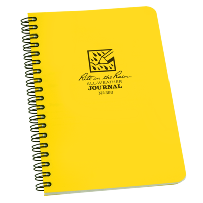 """Notebook 393 Side Coil Journal Yellow, 4 5/8"""" x 7"""" - Rite In The Rain"""