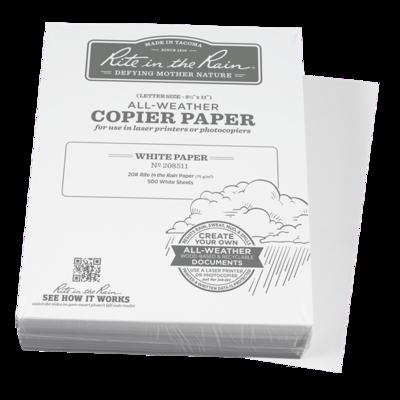 "Paper 208511 Letter White, 500 Pack, 8 1/2"" x 11"" - Rite In The Rain"