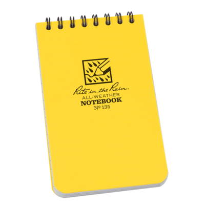 """Notebook 135 Top Coil Universal Yellow, 3"""" x 5"""" - Rite In The Rain"""