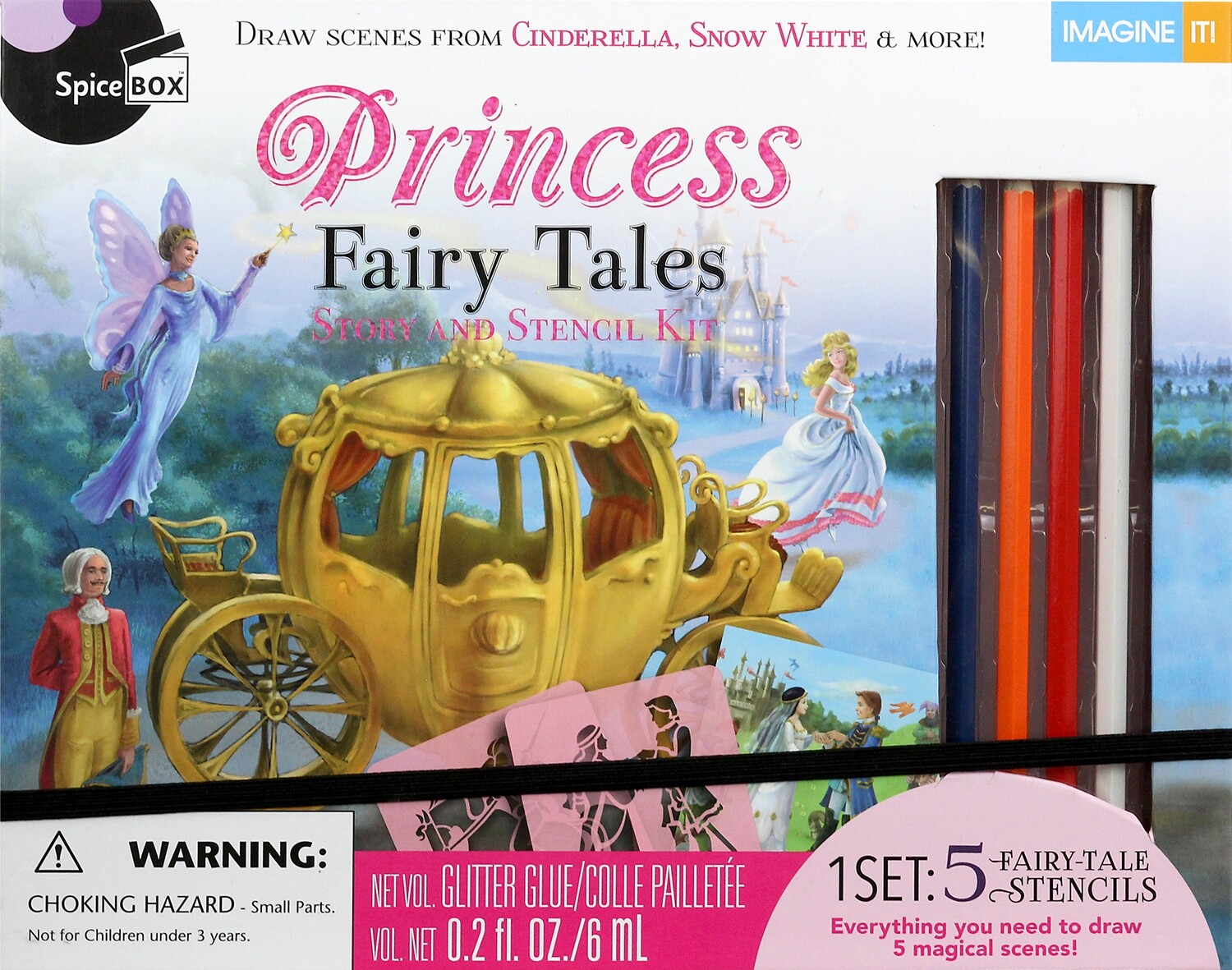 Book Kit: Imagine It! Princess Stencil Stories